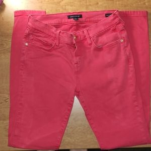 Pink Greenwich Skinny Mid Rise